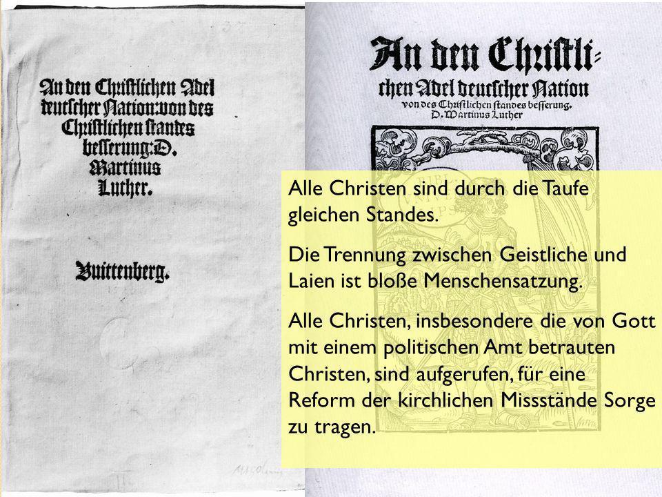 An den christlichen Adel