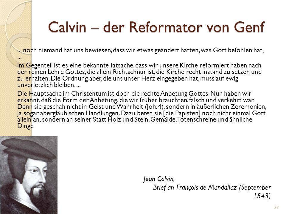 Calvin – der Reformator von Genf