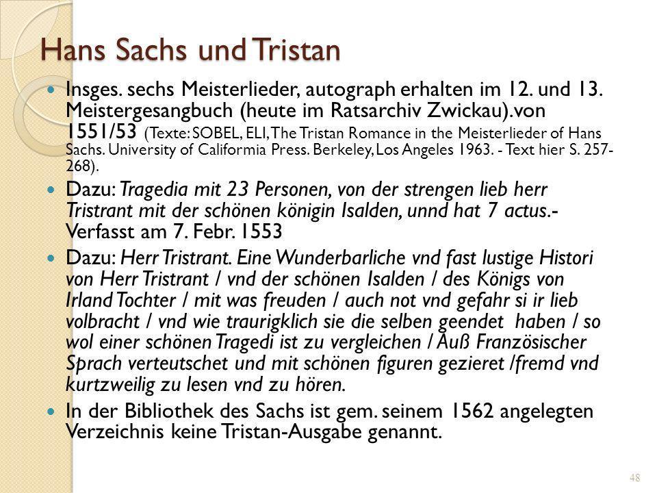 Hans Sachs und Tristan