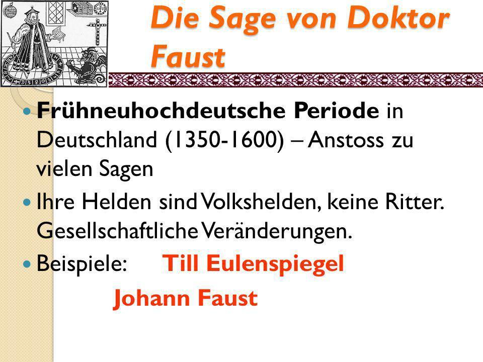 Die Sage von Doktor Faust