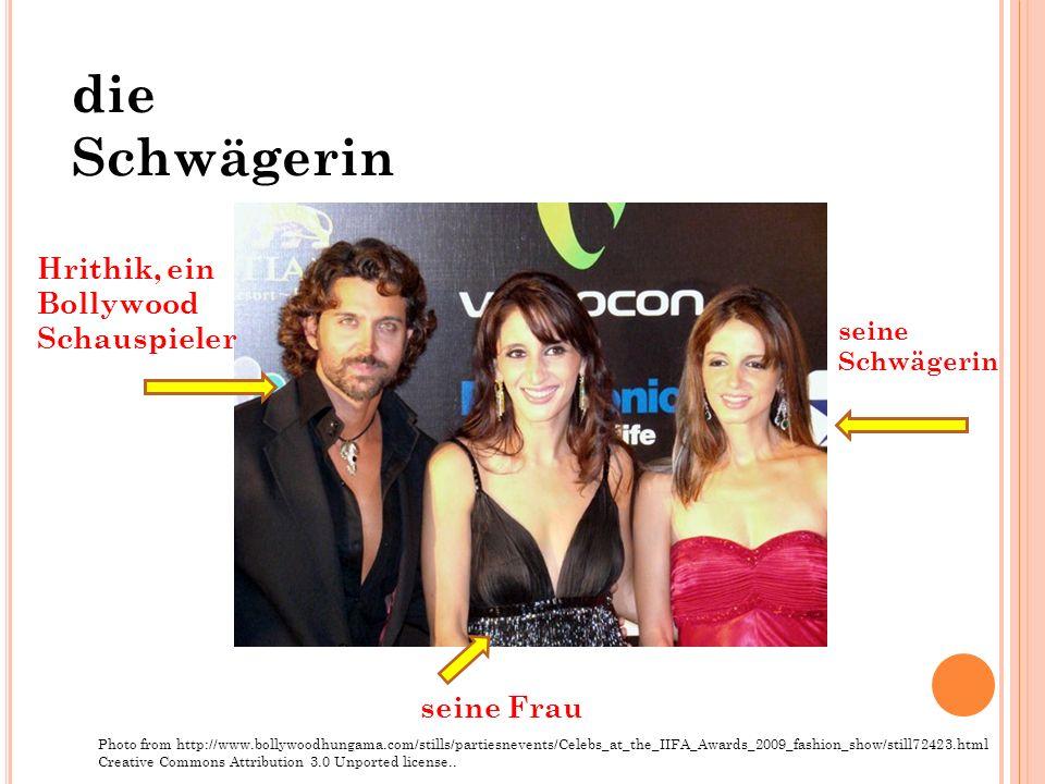 die Schwägerin Hrithik, ein Bollywood Schauspieler seine Frau