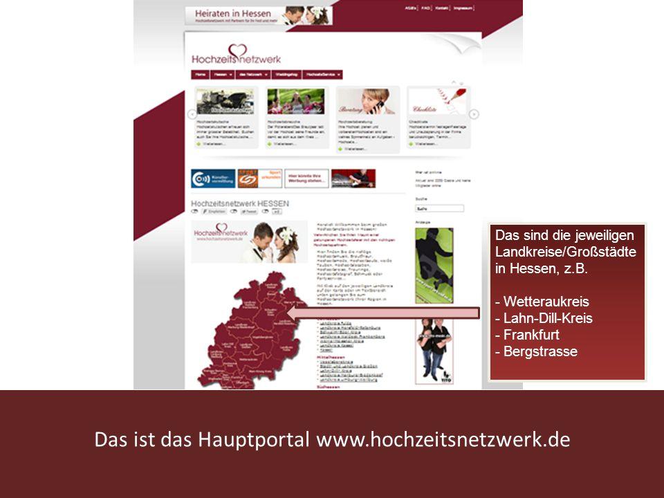 Das ist das Hauptportal www.hochzeitsnetzwerk.de
