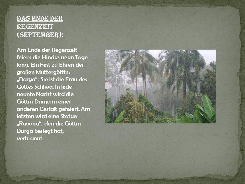 Das Ende der Regenzeit (September):