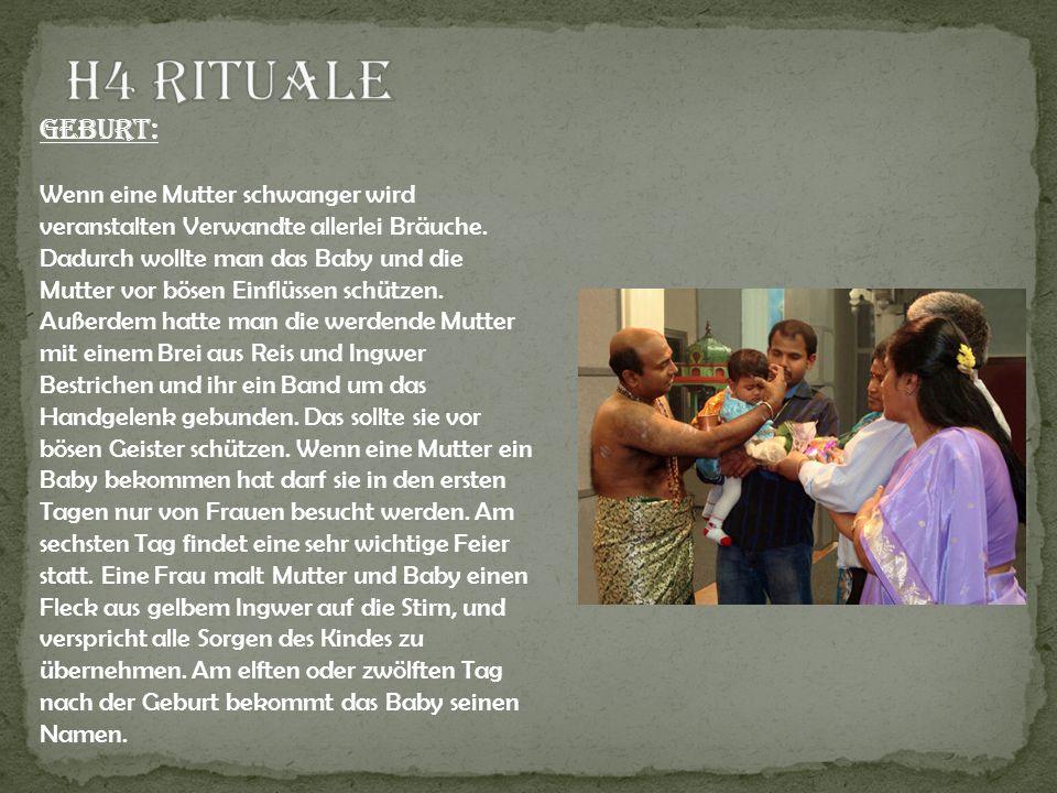H4 Rituale Geburt: Wenn eine Mutter schwanger wird veranstalten Verwandte allerlei Bräuche.