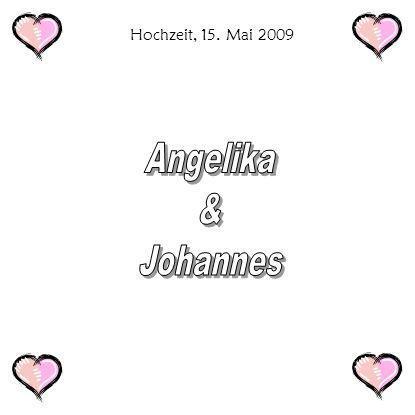 Hochzeit, 15. Mai 2009 Angelika & Johannes