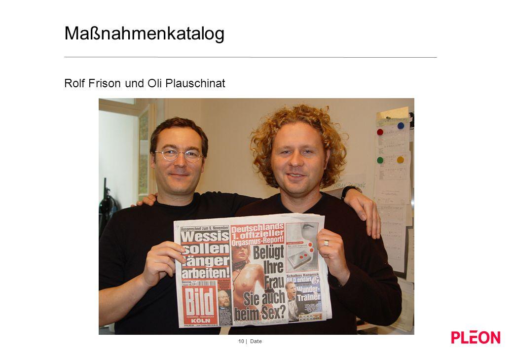 Maßnahmenkatalog Rolf Frison und Oli Plauschinat