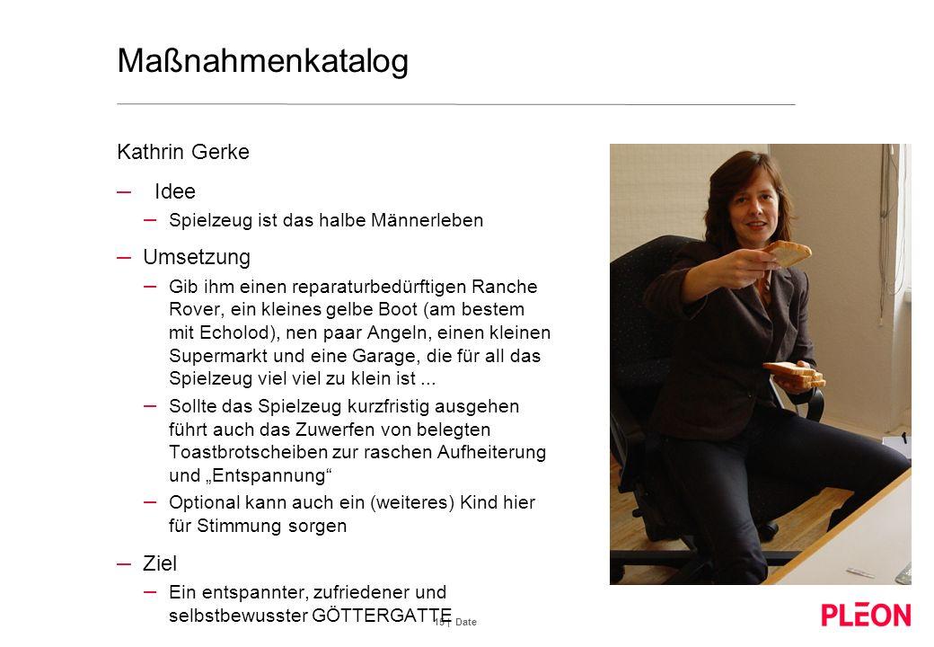 Maßnahmenkatalog Kathrin Gerke Idee Umsetzung Ziel