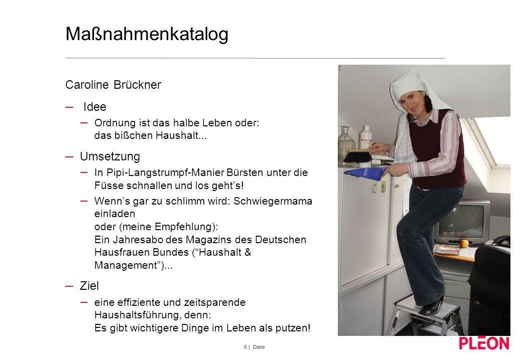 Maßnahmenkatalog Caroline Brückner Idee Umsetzung Ziel
