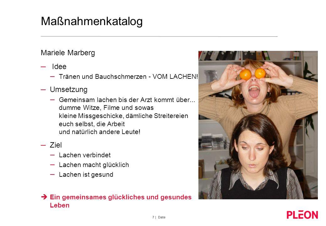 Maßnahmenkatalog Mariele Marberg Idee Umsetzung Ziel
