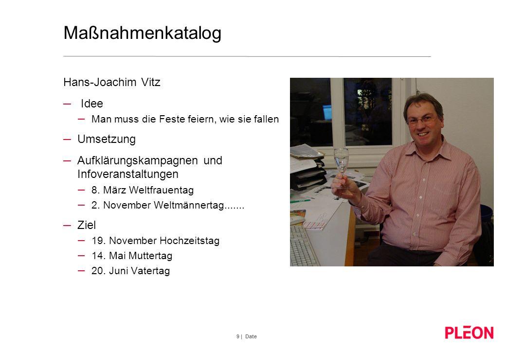 Maßnahmenkatalog Hans-Joachim Vitz Idee Umsetzung