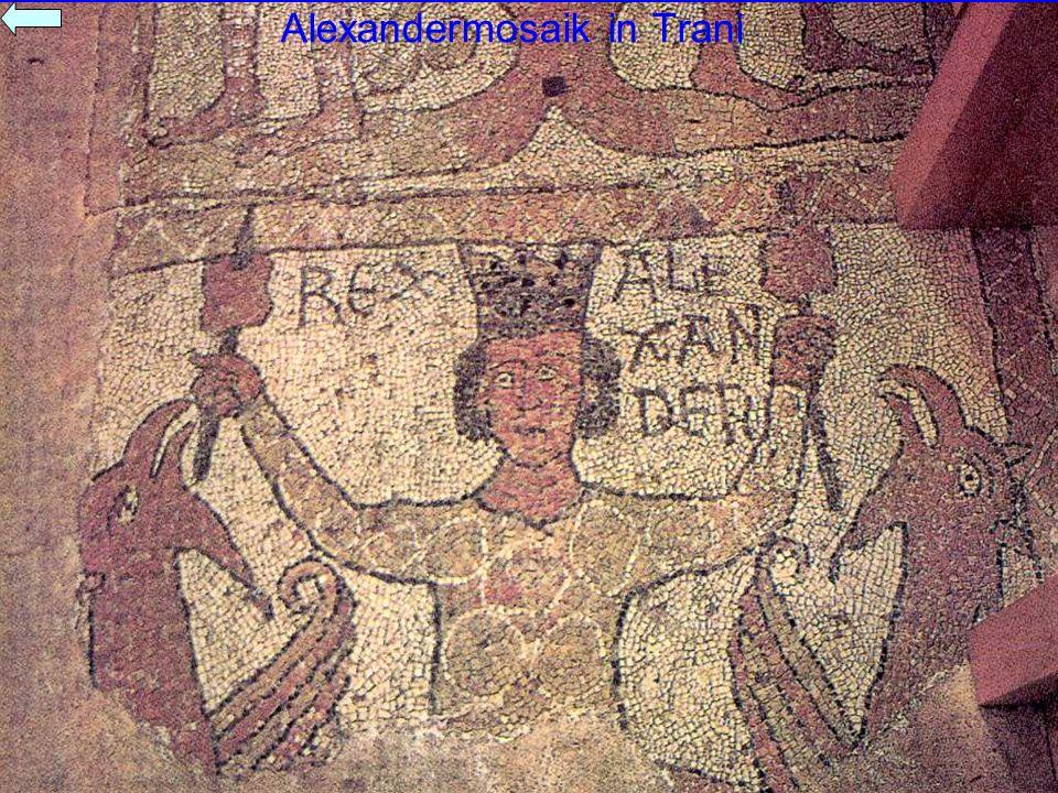 Alexandermosaik in Trani