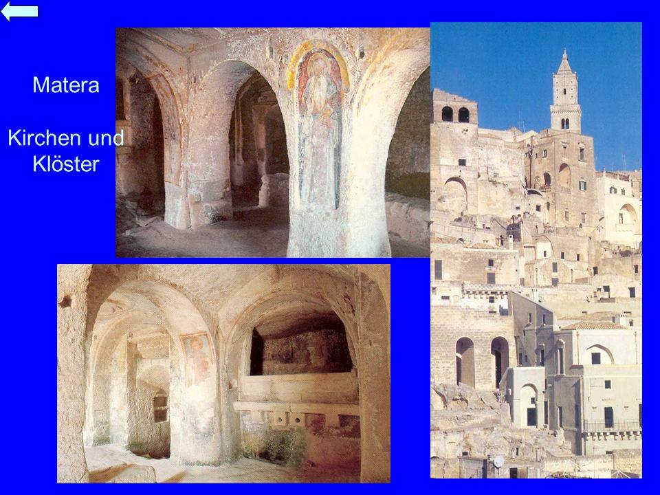 Matera Kirchen und Klöster