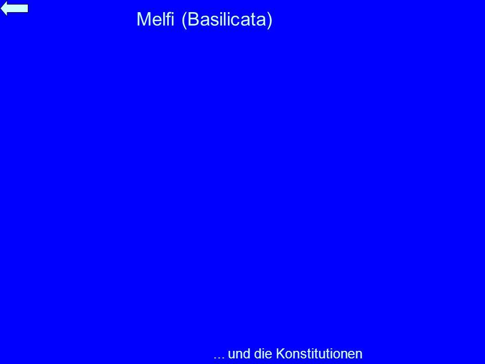 Melfi (Basilicata) ... und die Konstitutionen