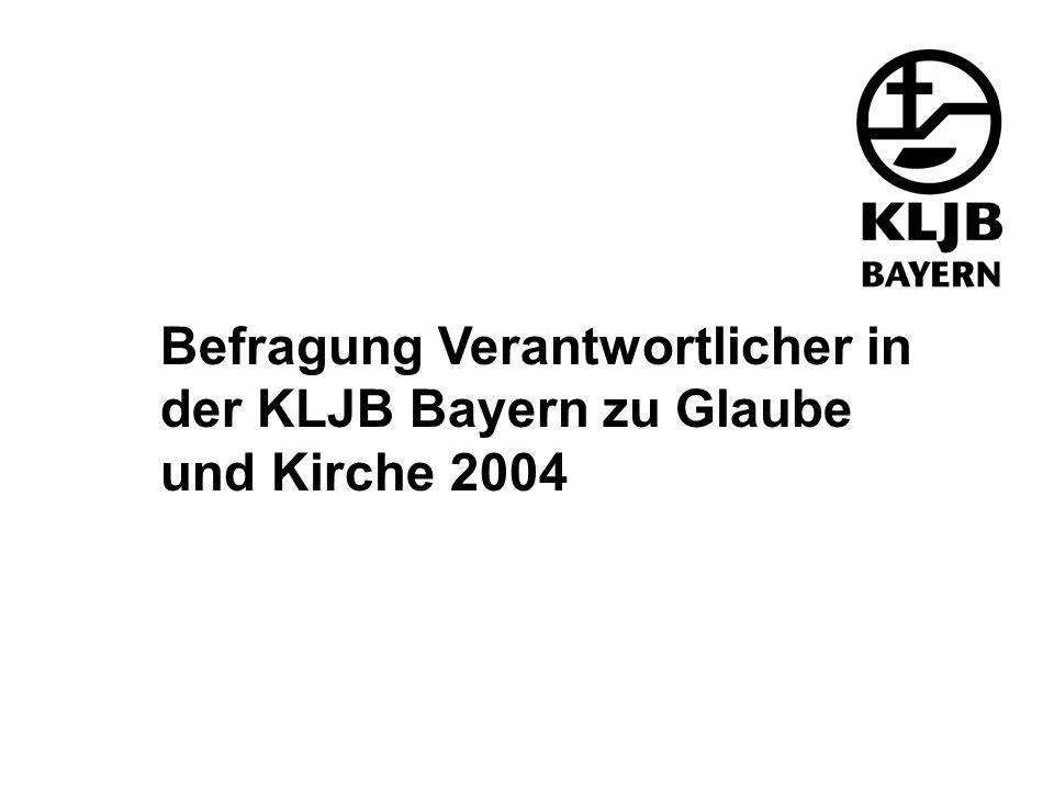 Befragung Verantwortlicher in der KLJB Bayern zu Glaube und Kirche 2004