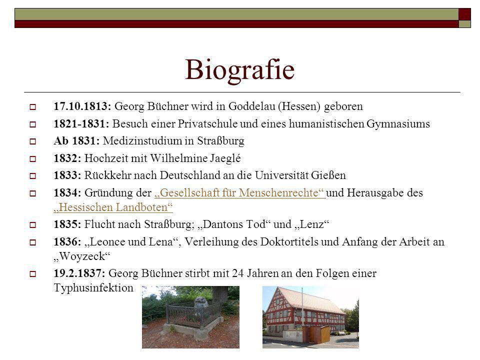 Biografie 17.10.1813: Georg Büchner wird in Goddelau (Hessen) geboren