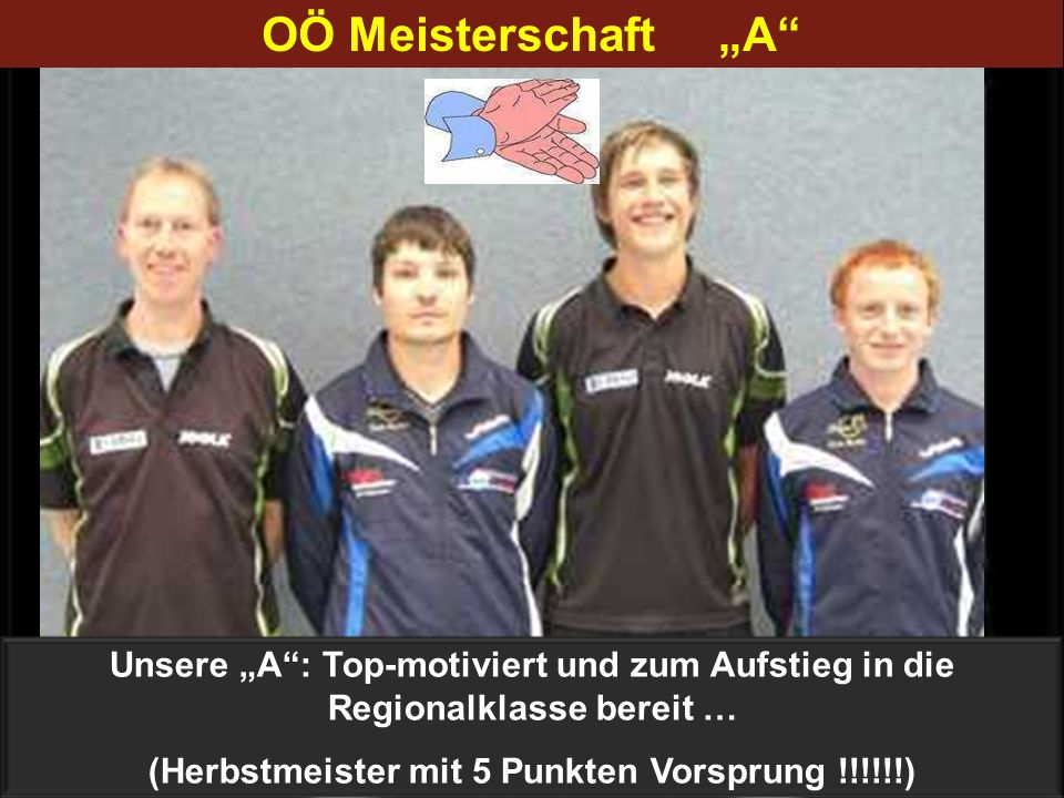(Herbstmeister mit 5 Punkten Vorsprung !!!!!!)