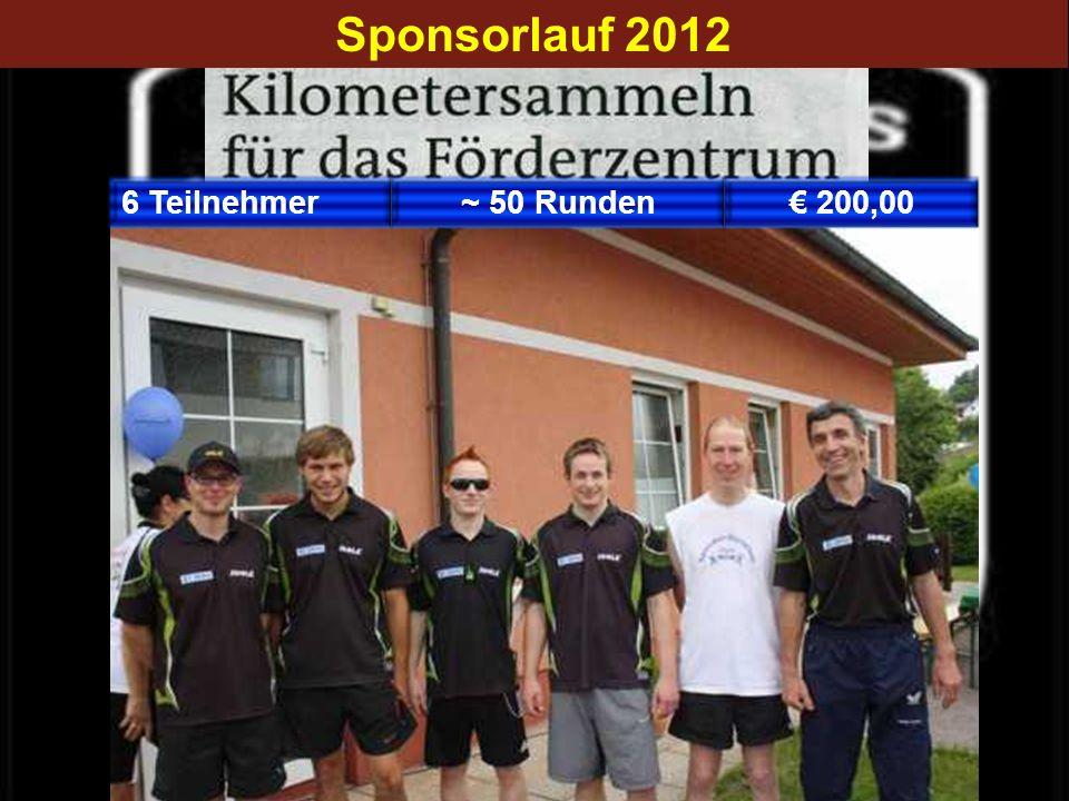 Sponsorlauf 2012 6 Teilnehmer ~ 50 Runden € 200,00