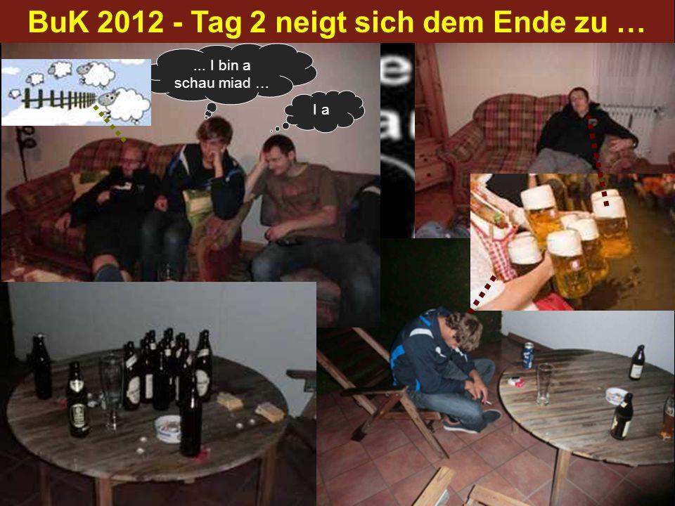 BuK 2012 - Tag 2 neigt sich dem Ende zu …