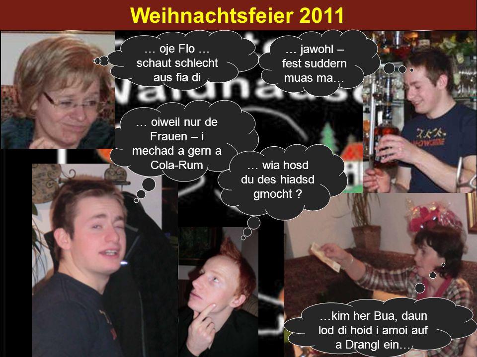 Weihnachtsfeier 2011 … oje Flo … schaut schlecht aus fia di