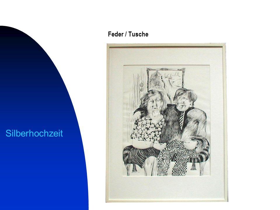 Feder / Tusche Silberhochzeit