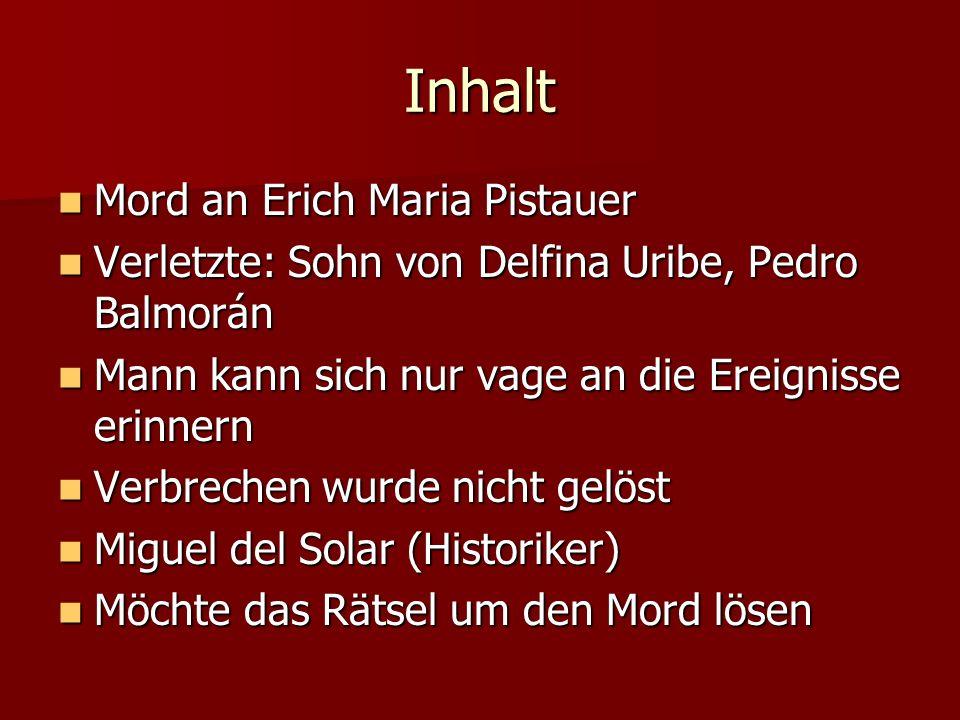 Inhalt Mord an Erich Maria Pistauer
