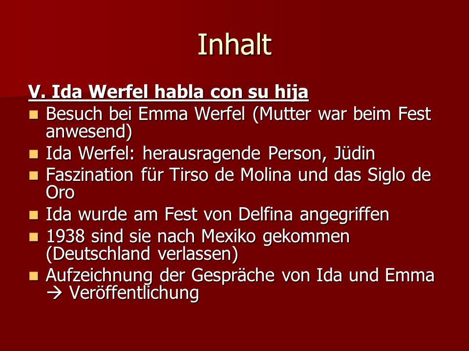 Inhalt V. Ida Werfel habla con su hija