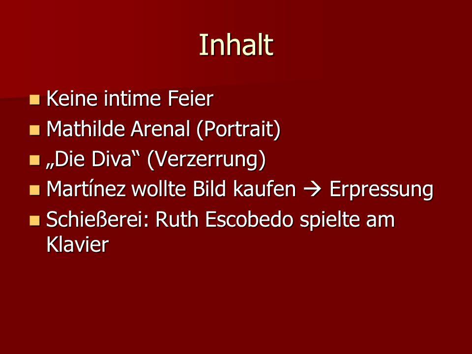 Inhalt Keine intime Feier Mathilde Arenal (Portrait)