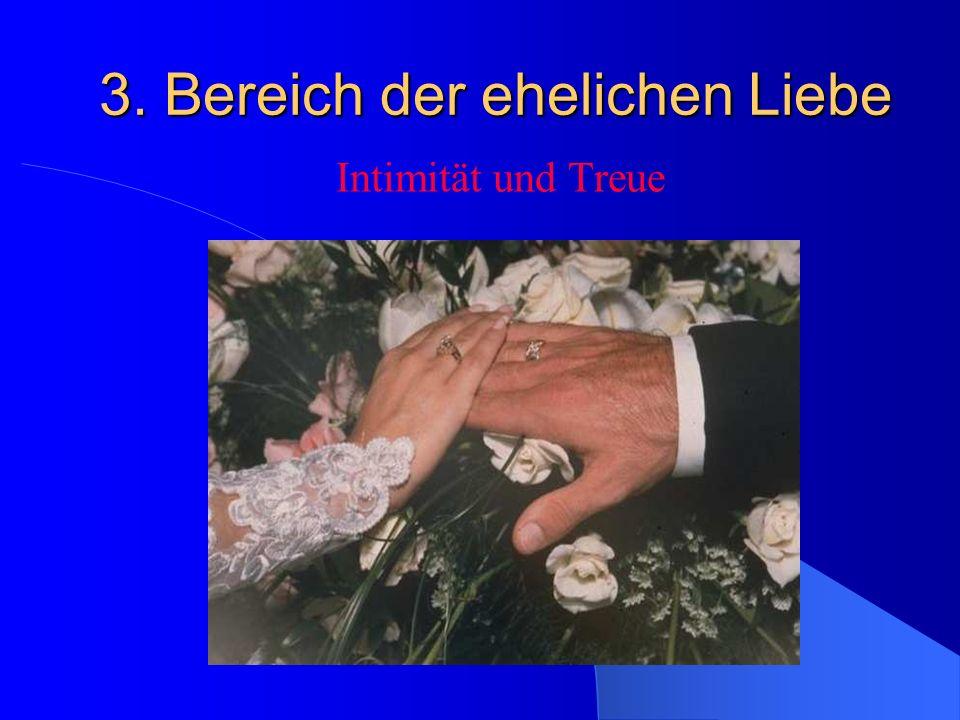 3. Bereich der ehelichen Liebe