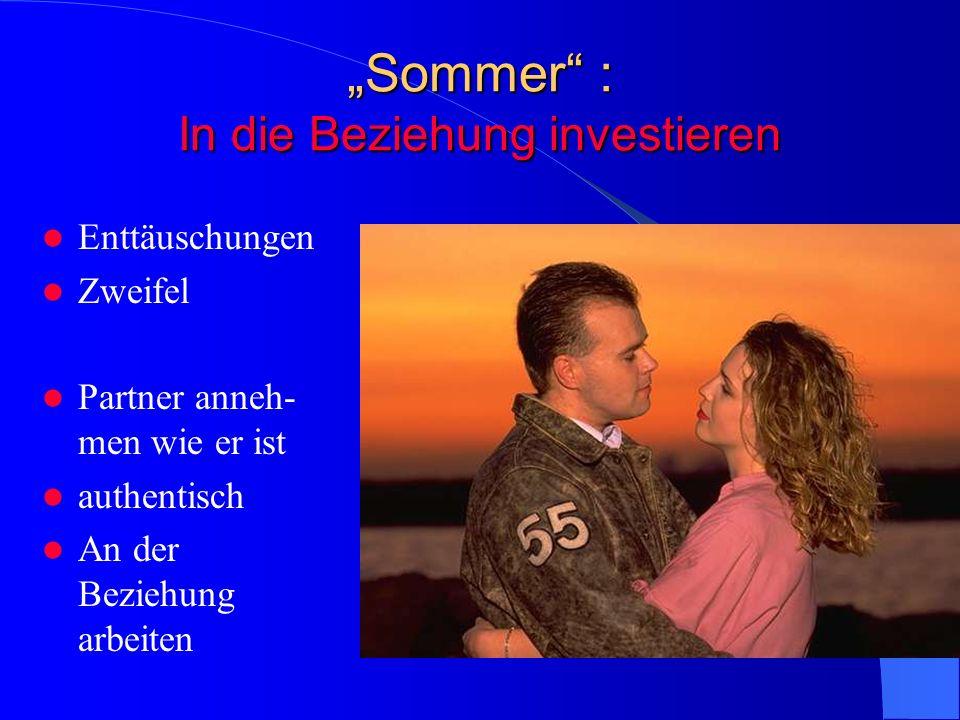 """""""Sommer : In die Beziehung investieren"""