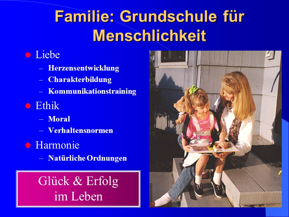 Familie: Grundschule für Menschlichkeit