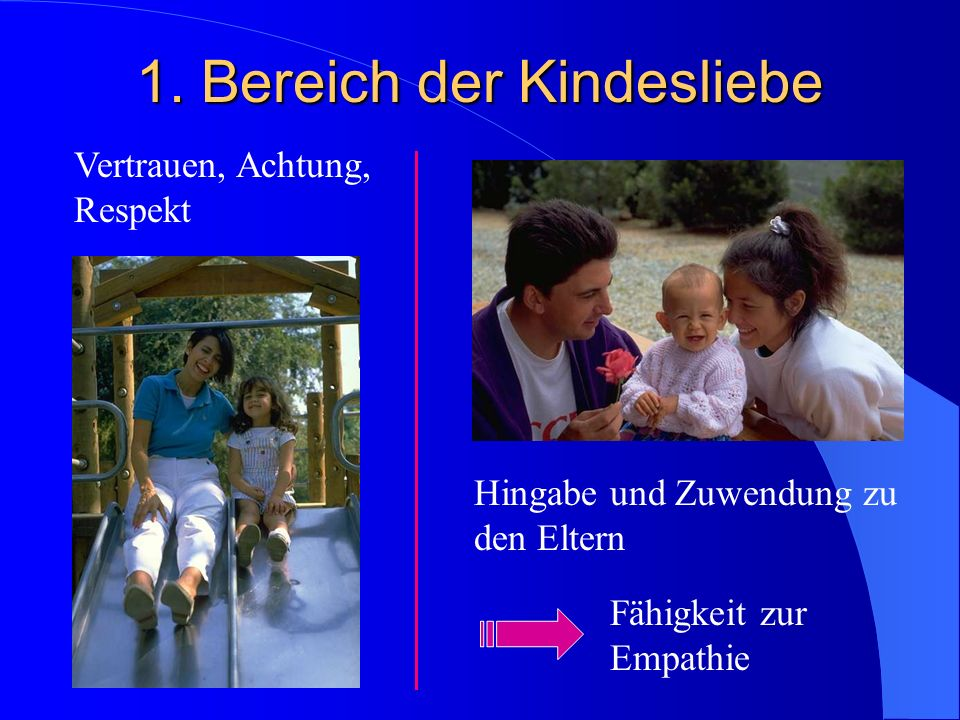 1. Bereich der Kindesliebe