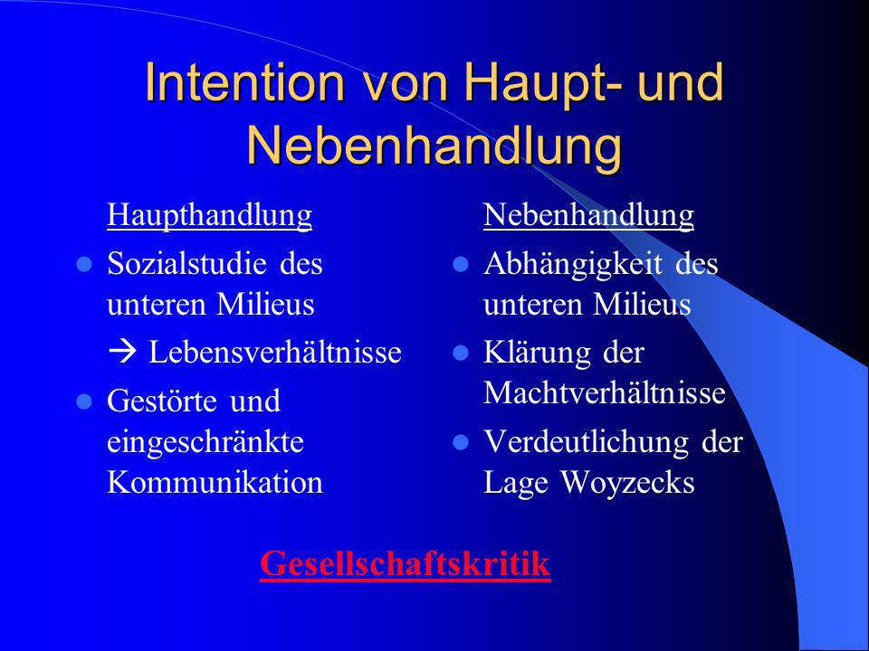 Intention von Haupt- und Nebenhandlung