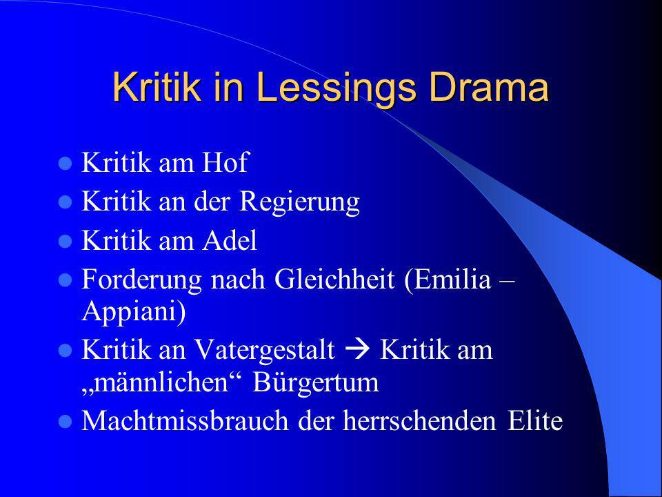 Kritik in Lessings Drama