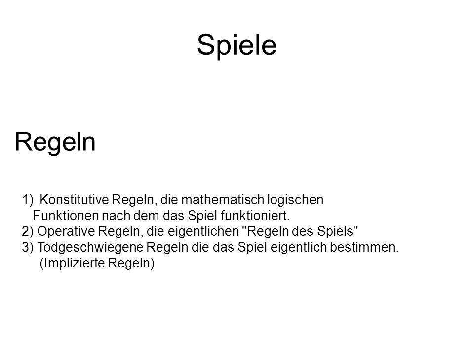 Spiele Regeln Konstitutive Regeln, die mathematisch logischen