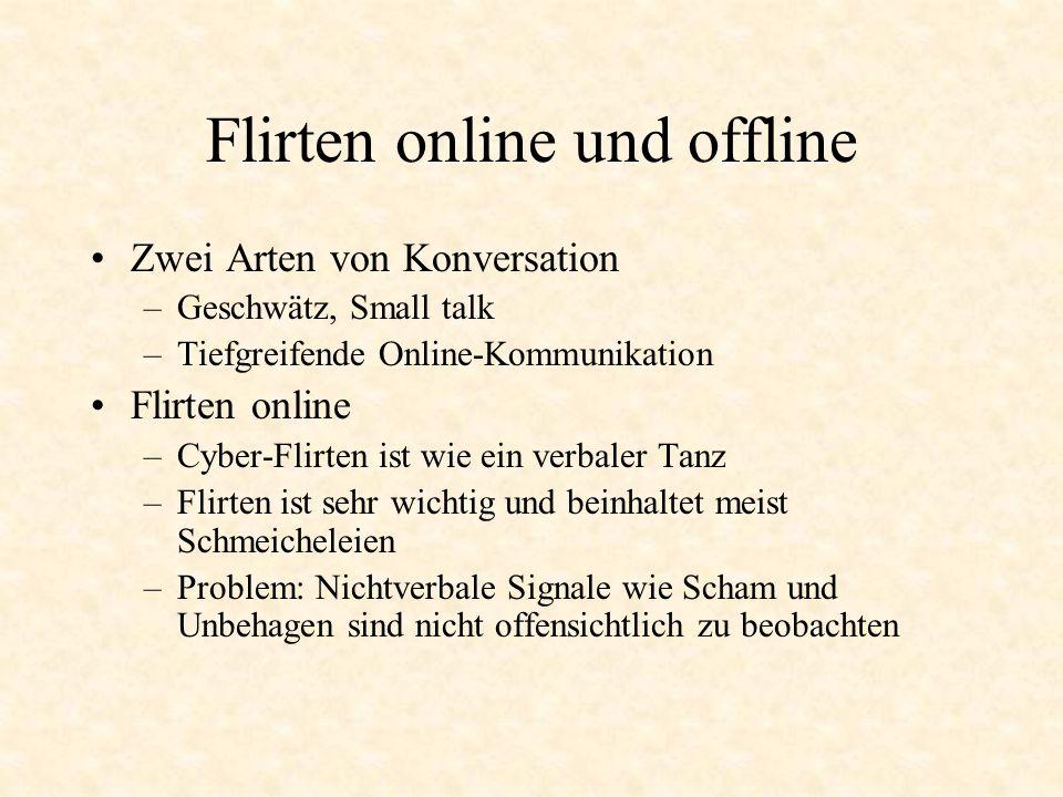 Flirten online und offline