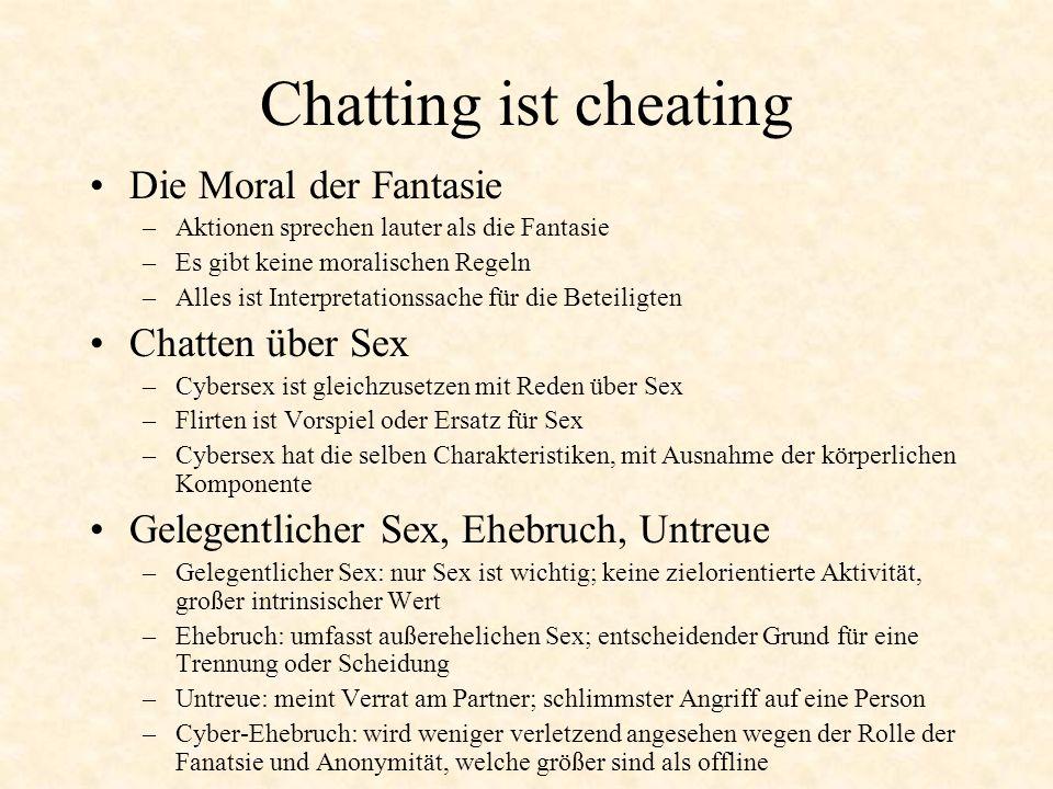 Chatting ist cheating Die Moral der Fantasie Chatten über Sex