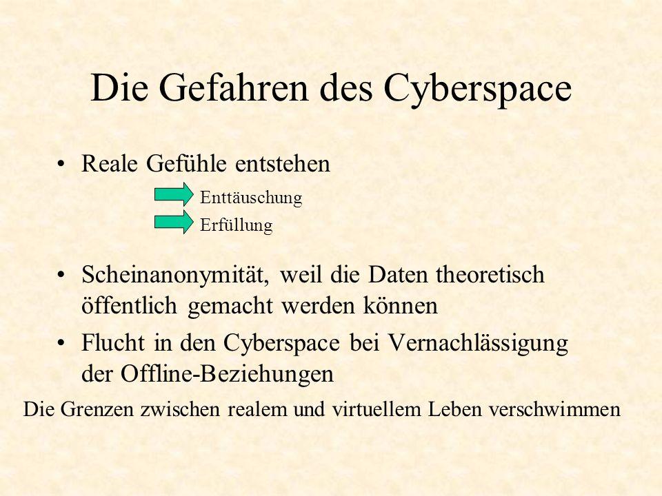 Die Gefahren des Cyberspace