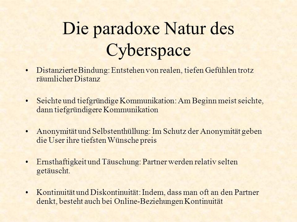 Die paradoxe Natur des Cyberspace