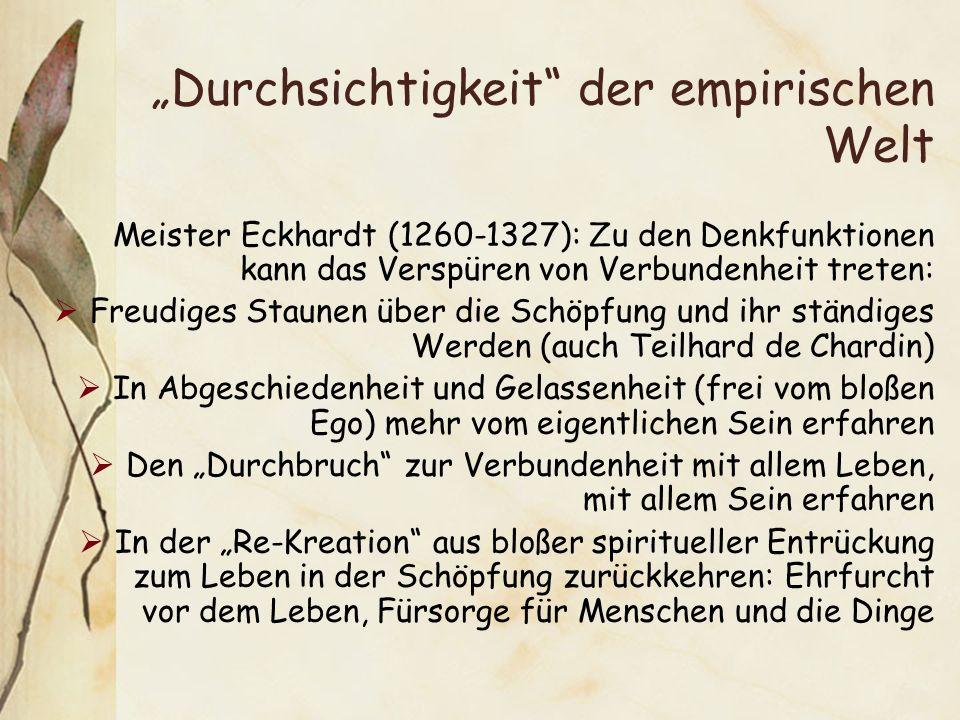 """""""Durchsichtigkeit der empirischen Welt"""
