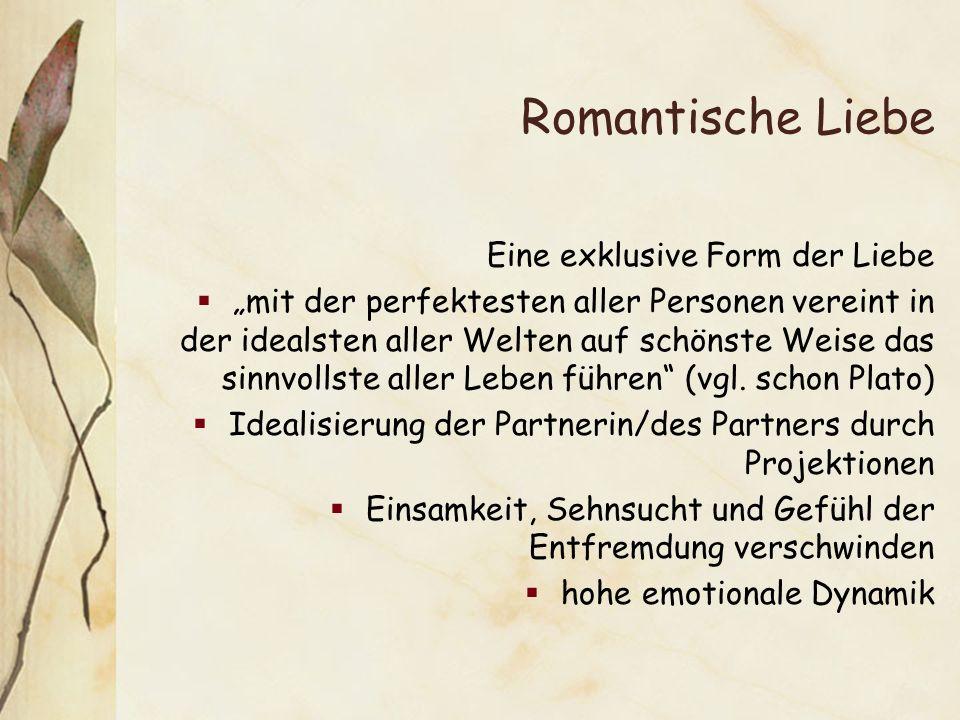 Romantische Liebe Eine exklusive Form der Liebe
