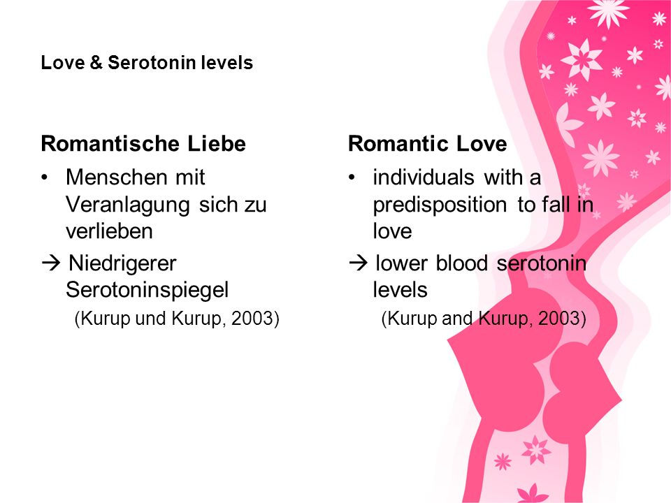 Love & Serotonin levels