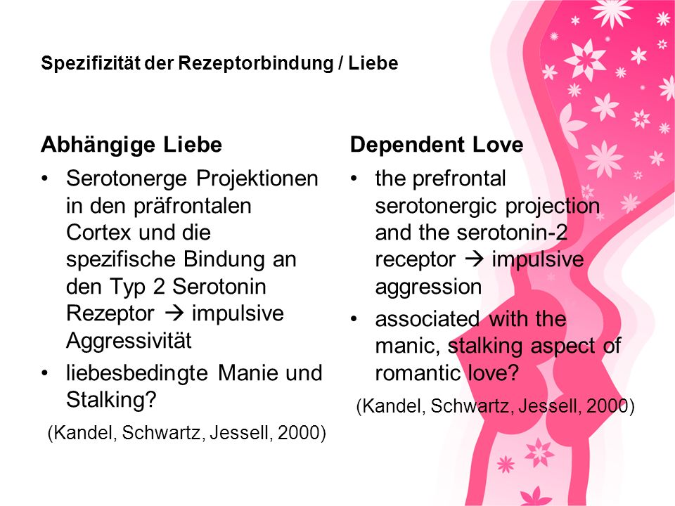 Spezifizität der Rezeptorbindung / Liebe