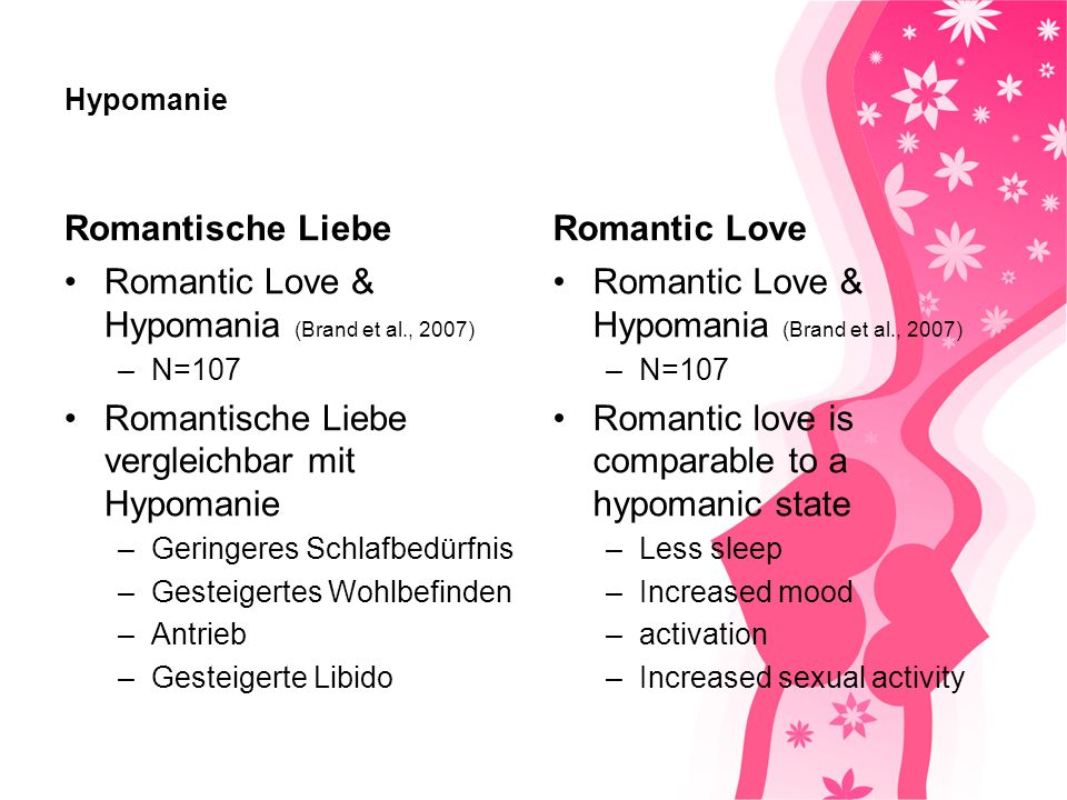 Romantic Love & Hypomania (Brand et al., 2007)