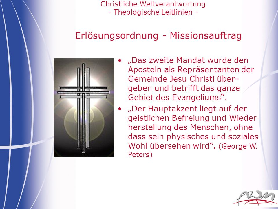 Erlösungsordnung - Missionsauftrag