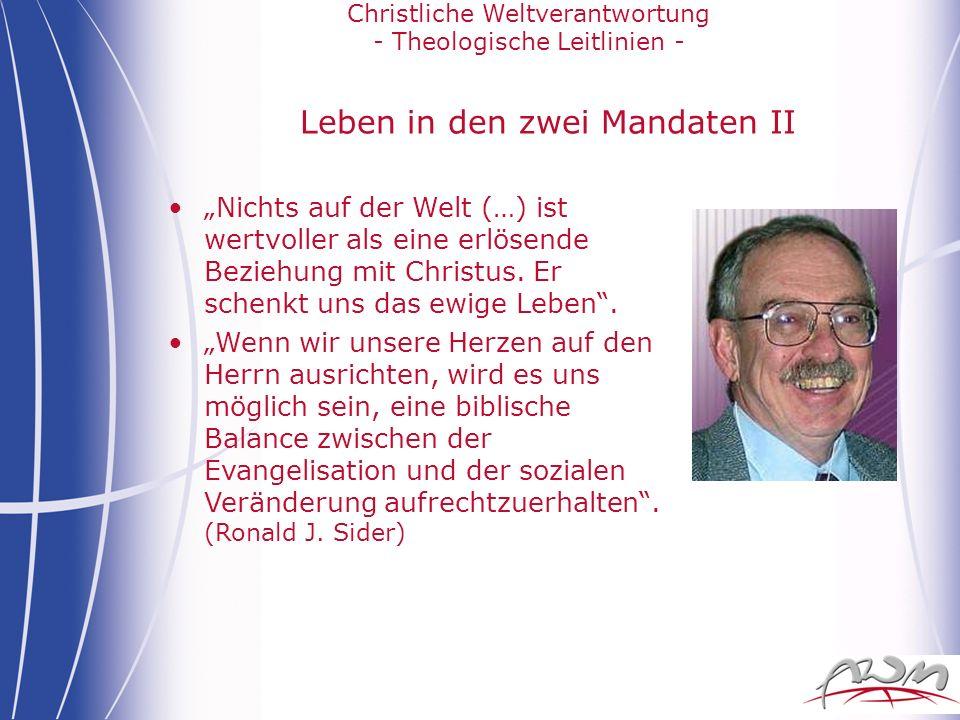 Leben in den zwei Mandaten II