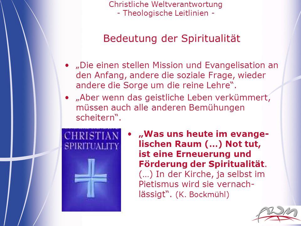 Bedeutung der Spiritualität
