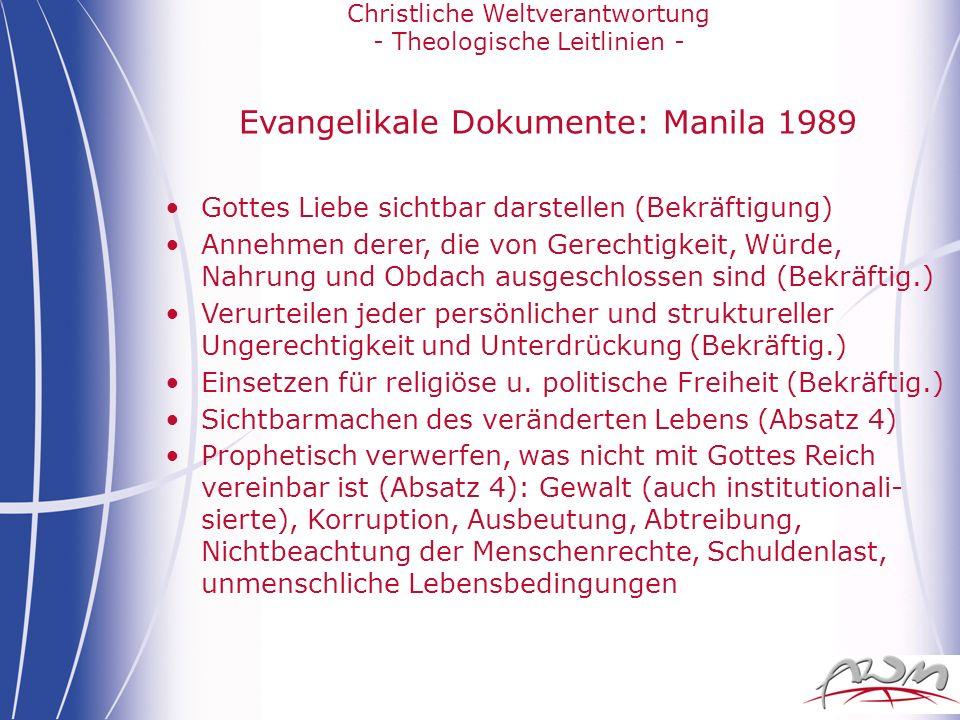 Evangelikale Dokumente: Manila 1989