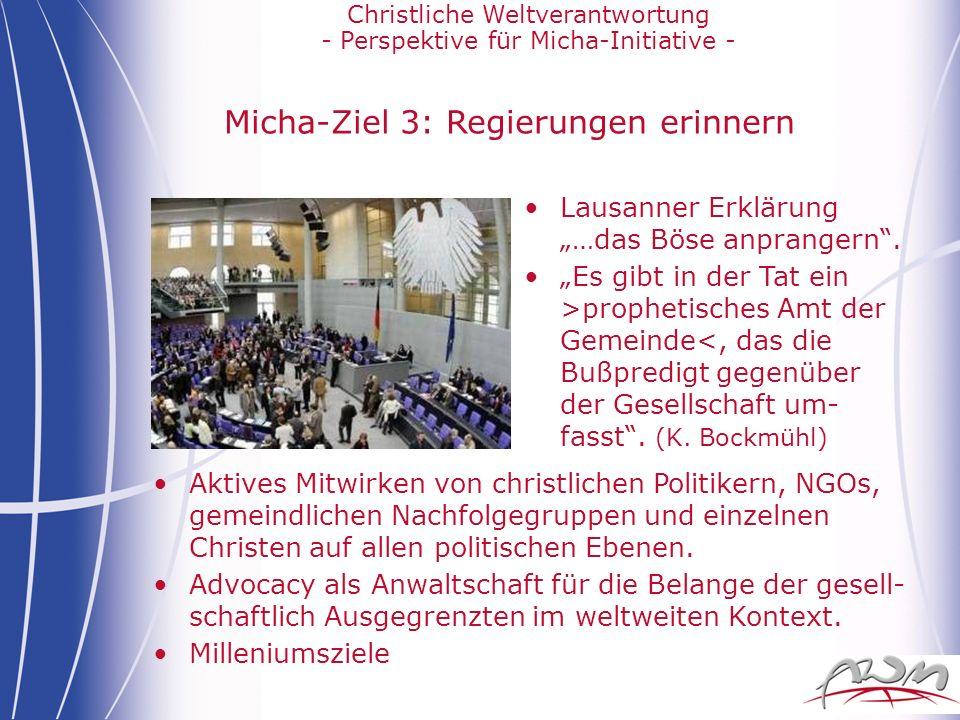 Micha-Ziel 3: Regierungen erinnern