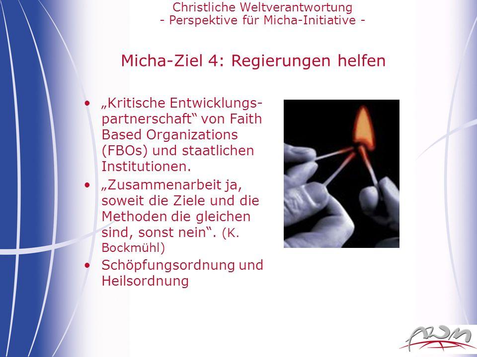 Micha-Ziel 4: Regierungen helfen