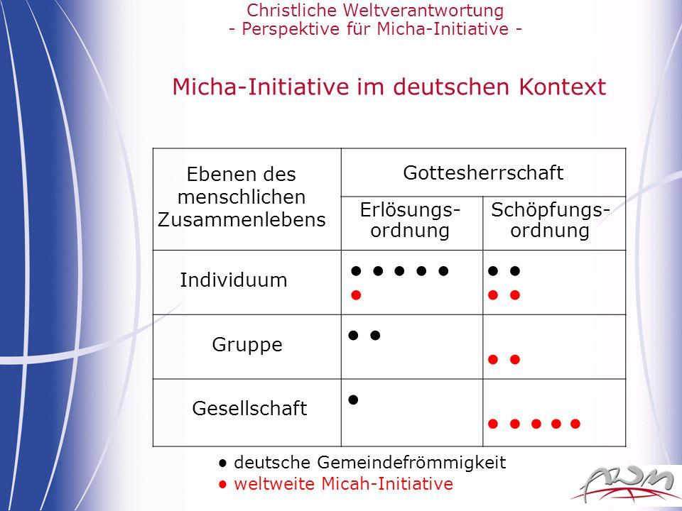 Micha-Initiative im deutschen Kontext